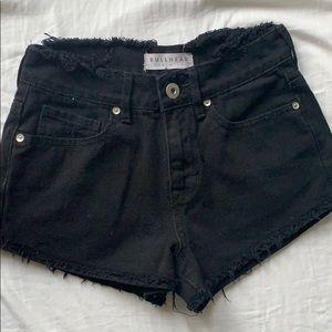 Pacsun (Bullhead denim co) black shorts